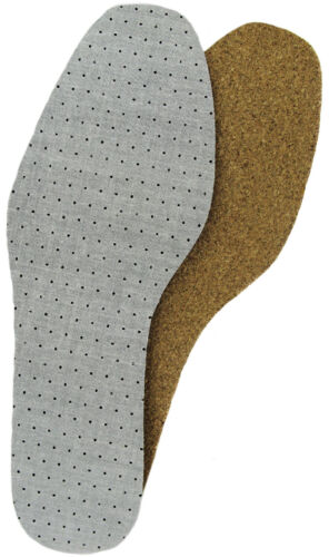 Insoles Natural cork with Latex active charcoal upper 2 Pair Packs