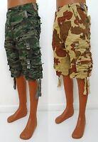 Men's WORIOR green khaki multi camo cargo shorts size 30 32 34 36 38 40 x 12