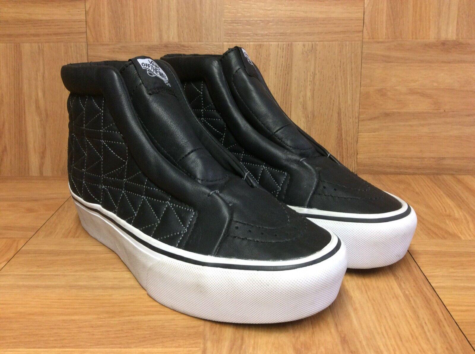 Raro  VANS Sk8-Hi Karl Lagerfeld muestra Zapato Plataforma Antideslizante en Negro Talla 5.5