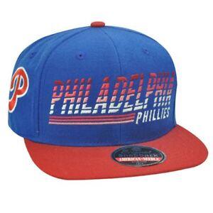 half off a64a4 b5dce Image is loading Snapback-hat-cap-Philadelphia-Phillies -American-Needle-Flat-
