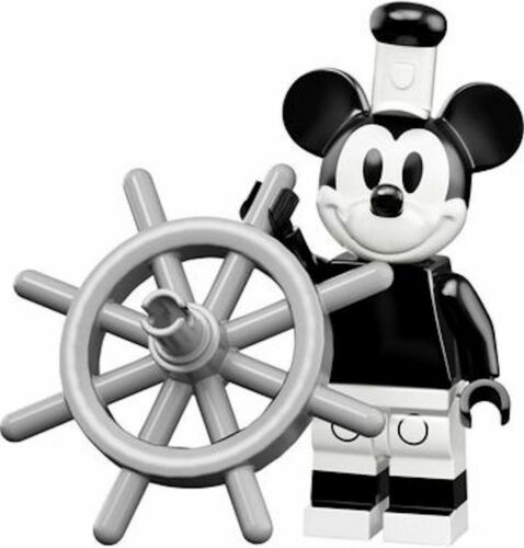 MICKEY MOUSE as Steamboat Willie LEGO Disney Series 2 Minifigure NEW in Pack