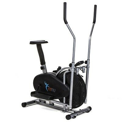 Cyclette ellittica stepper ergometro display LCD Cross Training -Fitfiu ORB2000S