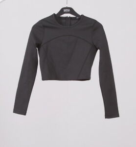 Zara-T-SHIRT-lookbook-Autumn-winter-fashion-collection-SHORT-tight-fitting-black