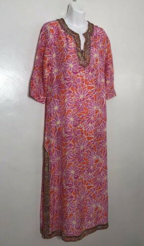 Rare Lilly Pulitzer Sequin Beaded Caftan Maxi Dres