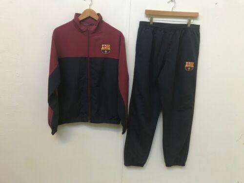 New Large Barcelona FC Official Men/'s Tracksuit L - Burgundy//Navy