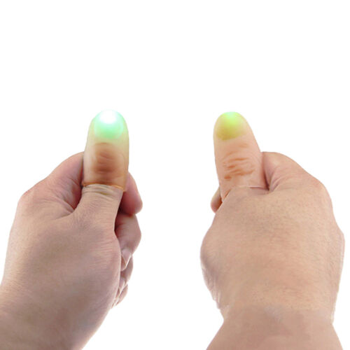 Zauberartikel & -tricks Light up thumbs fingers Magic RED  And Blue tricks appearing light Scars people/
