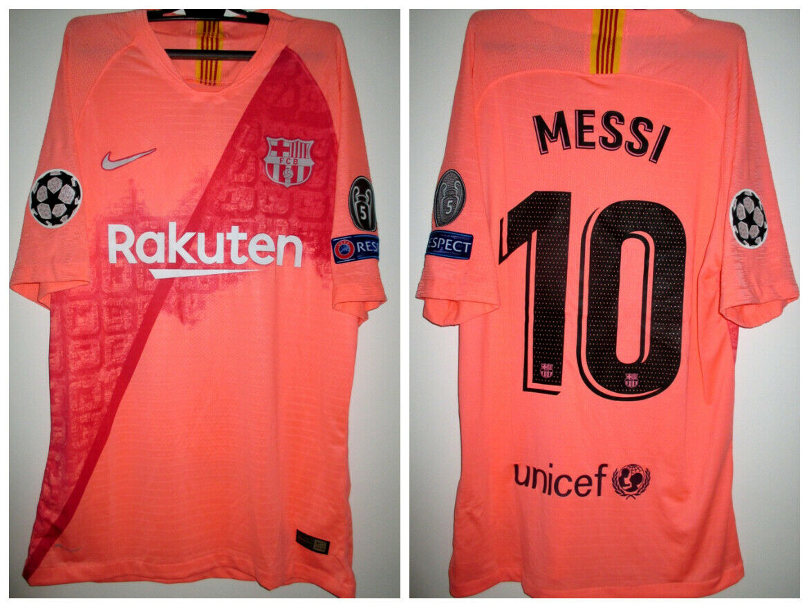 ULTRA RARE BARCELONA  FC MESSI  MATCH WORN  ISSUED SHIRT C.LEAGUE 201819