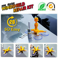 Windshield Windscreen Repair Tool Set DIY Car Wind Glass Kit For Chip Crack