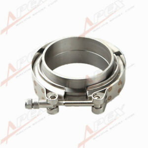 "Downpipe Intercooler Turbo 2.75"" V-Band Clamp & Flange Kit Mild Steel Flange"