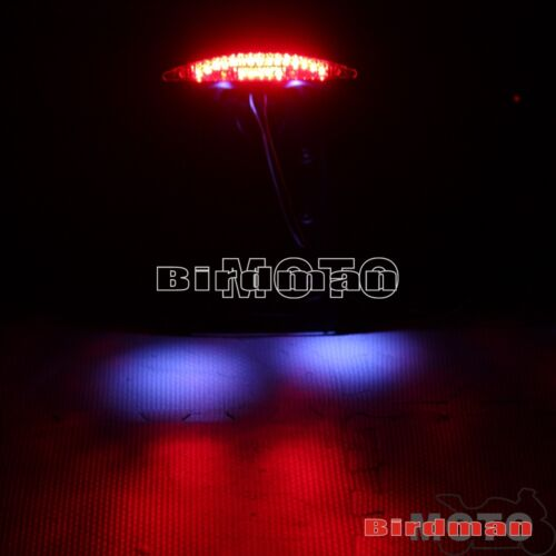 """Side Mount 1/""""or 3//4/"""" Back Axle License Plate LED Taillight For Suzuki Kawasaki"""