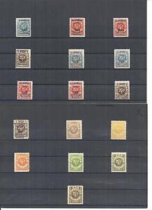 Memel-Litauen-Klaipeda-1923-Einzelmarken-aus-MiNrn-124-150-postfrisch