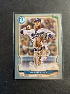 2020-Topps-Gypsy-Queen-Baseball-Silver-92-Justin-Turner-Los-Angeles-Dodgers-MLB