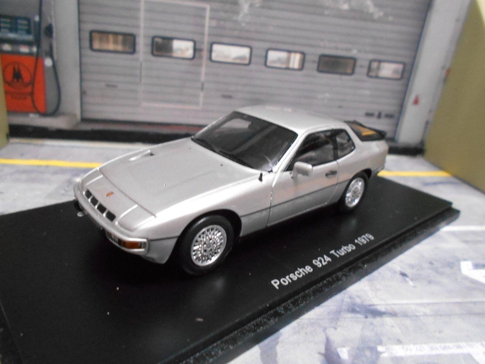 distribución global Porsche 924 Turbo Turbo Turbo Coupe 1979 plata plata Spark resin highenddetail lim 1 43  gran descuento