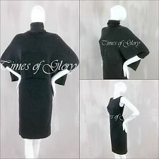 Brunello Cucinelli Sequin CASHMERE Silk Oversize Jumper Sweater Pencil Dress S
