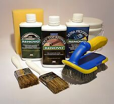 """Renovo """"BLUE"""" Convertible Hood Soft Top Reviver COMPLETE KIT with brushes etc."""