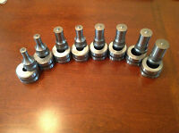8-set Ironworker Round Tooling For Edwards, Cst, Piranha Iw's