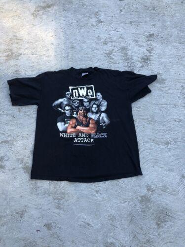 nWo Black & White Attack T-Shirt XL Vintage WCW Ho