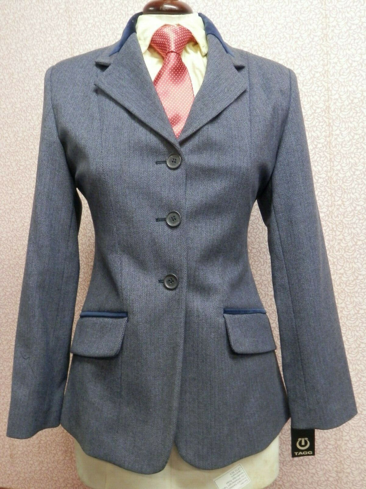 Tagg Maids Koln Rider Navy Tweed Show Jacket Größes  26,28,30,32