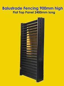 Balustrade-Fencing-Balcony-amp-Deck-Fence-Flat-Top-900mm-high-x-2400mm-Black