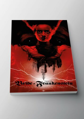 A3 A4 Sizes Bride of Frankenstein Classic Movie Poster or Canvas Art Print