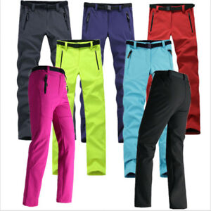 Women-Soft-Shell-Pants-Windproof-Trousers-Outdoor-Camping-Ski-Hiking-Waterproof