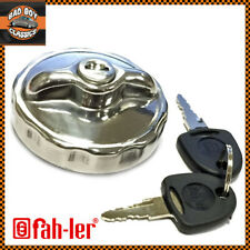 Classic Mini Stainless Steel Like Chrome Locking Fuel Petrol Cap With 2 Keys
