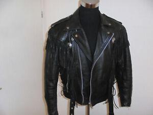 vintage-HEROS-by-HELD-Motorradjacke-Leder-Bikerjacke-80s-oldschool-52-M-L