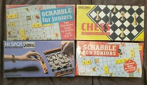Job-Lot-vintage-jeux-Spears-Chess-Scrabble-pour-Juniors-HI-SPOT-tres-bon-etat-libre-p-amp-p
