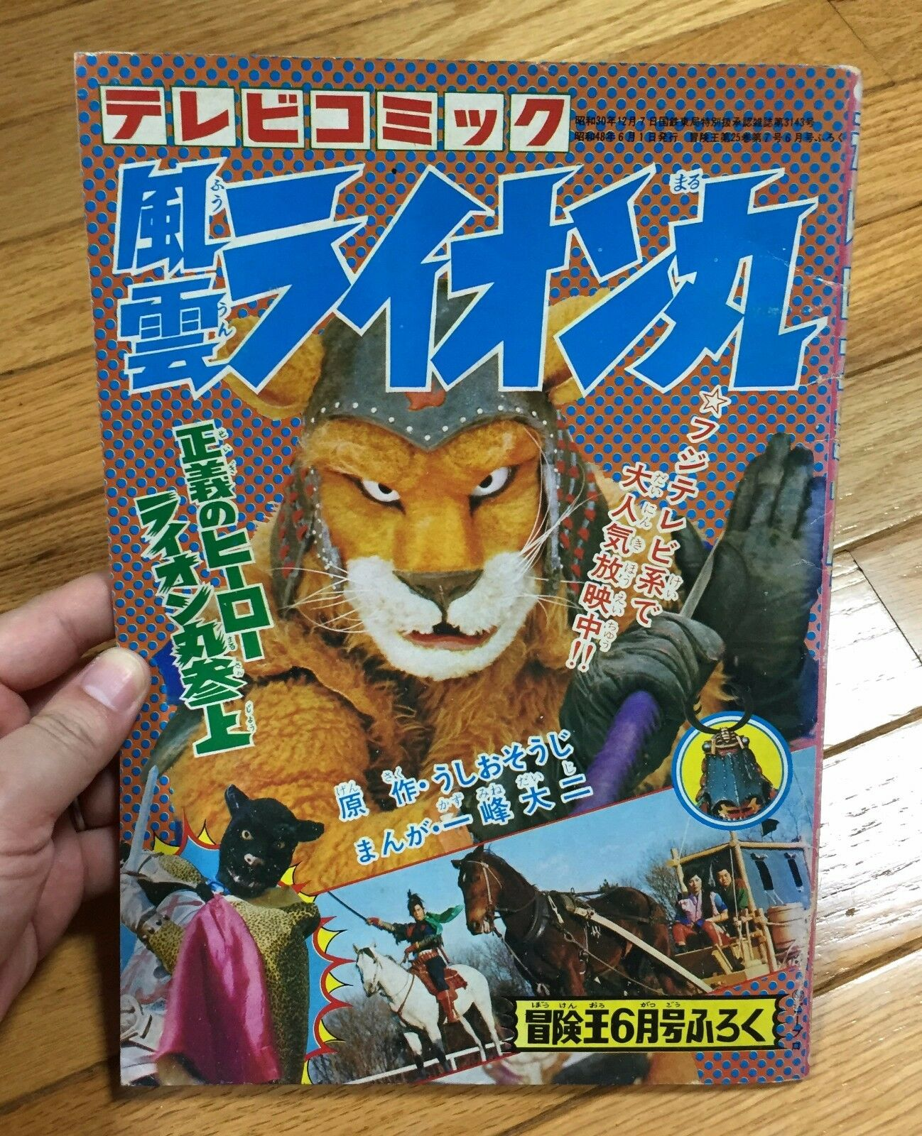 JAPANESE TV MOVIE FUUN LION MARU VINTAGE BOUKEN OH COMIC