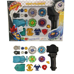Beyblade-Fight-Master-Top-Set-Spinning-Metal-Fusion-4D-Launcher-Toy-Kids-Gift