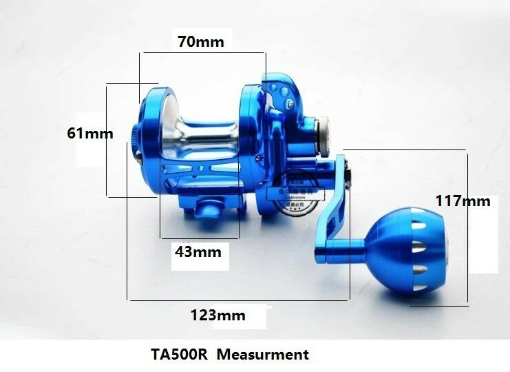 Saltwater Jigging Trolling Fishing Reel CNC Full Metal Manufacture TA500R 35KG