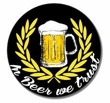 BEER Punk Button Pin NEU 2,5cm Punkrock Oi! Skinhead Hardcore Fun Bier Alkohol
