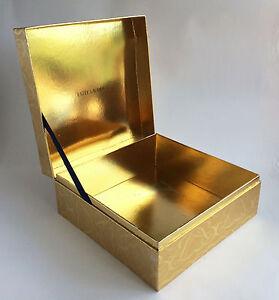 Estee-Lauder-Gold-Storage-Gift-Box-Chest-Makeup-Cosmetics-Vanity-Case-VBX402