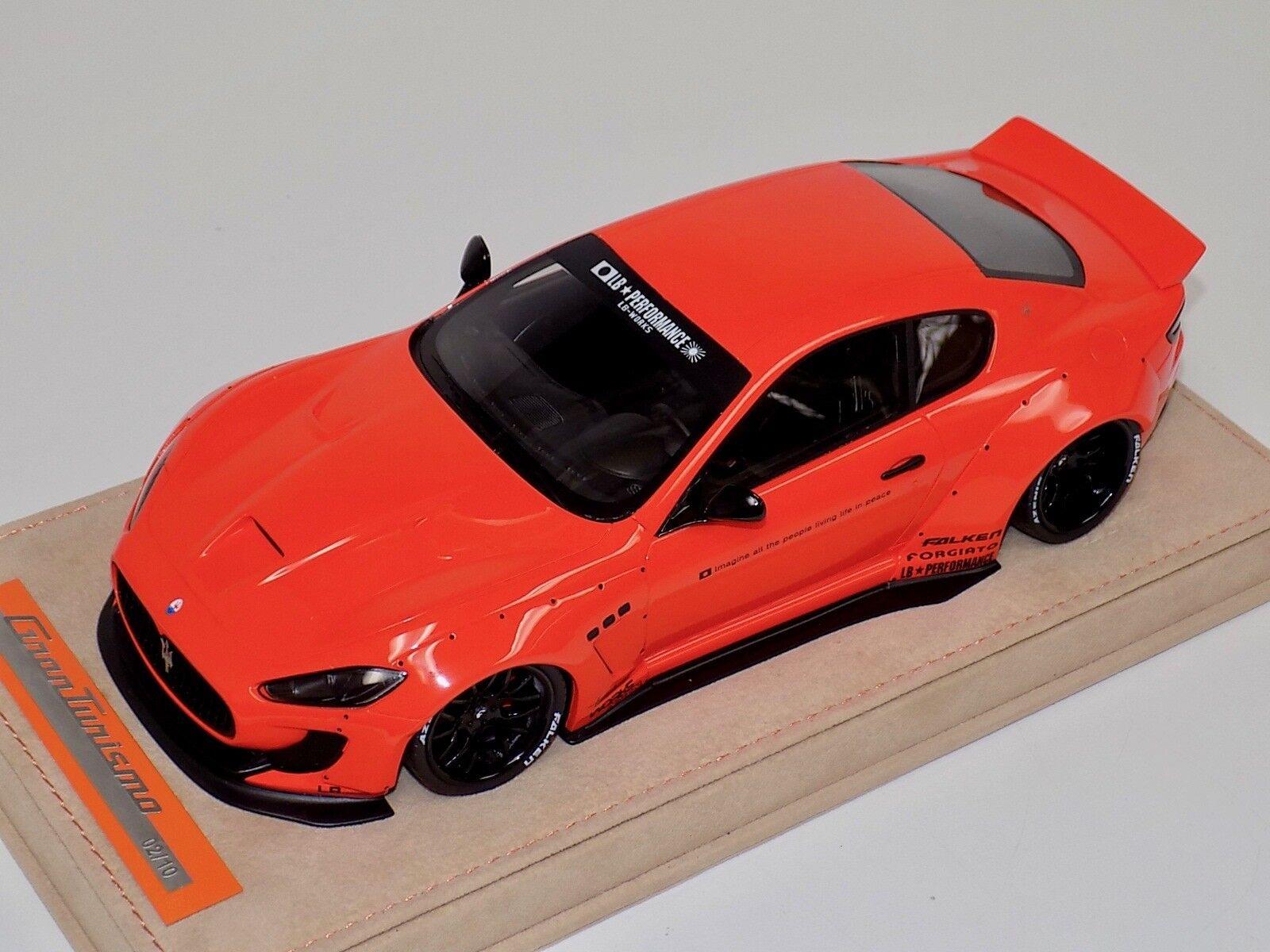 1 18 AB modèles Maserati GranTurismo Liberty Walk Gloss Orange ALCANTARA