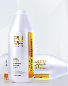1000ml Pure Brazilian Keratin Hair Treatment Formalin 5 Hair Straightener 739328785596 Ebay