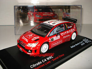IXO ALTAYA 1//43 CITROEN C4 WRC S.LOEB D.ELENA RALLYE MONTECARLO 2008