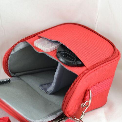 AR2 Red Camera Case Bag for Fuji FINEPIX S4240 SL245 S4700 S1 Bridge Camera