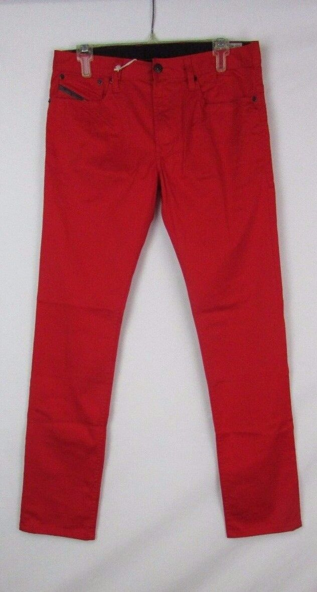 Diesel Women's Shioner-A  Red Denim Trouser Jeans Sizes 26 27