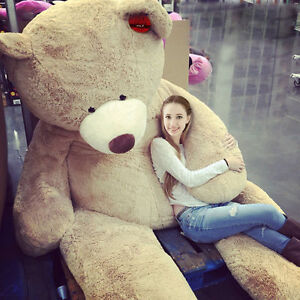 Hot 2016-80cm-340cm Giant Bear Skin Toy American Bear Plush Teddy Bear Bearskin