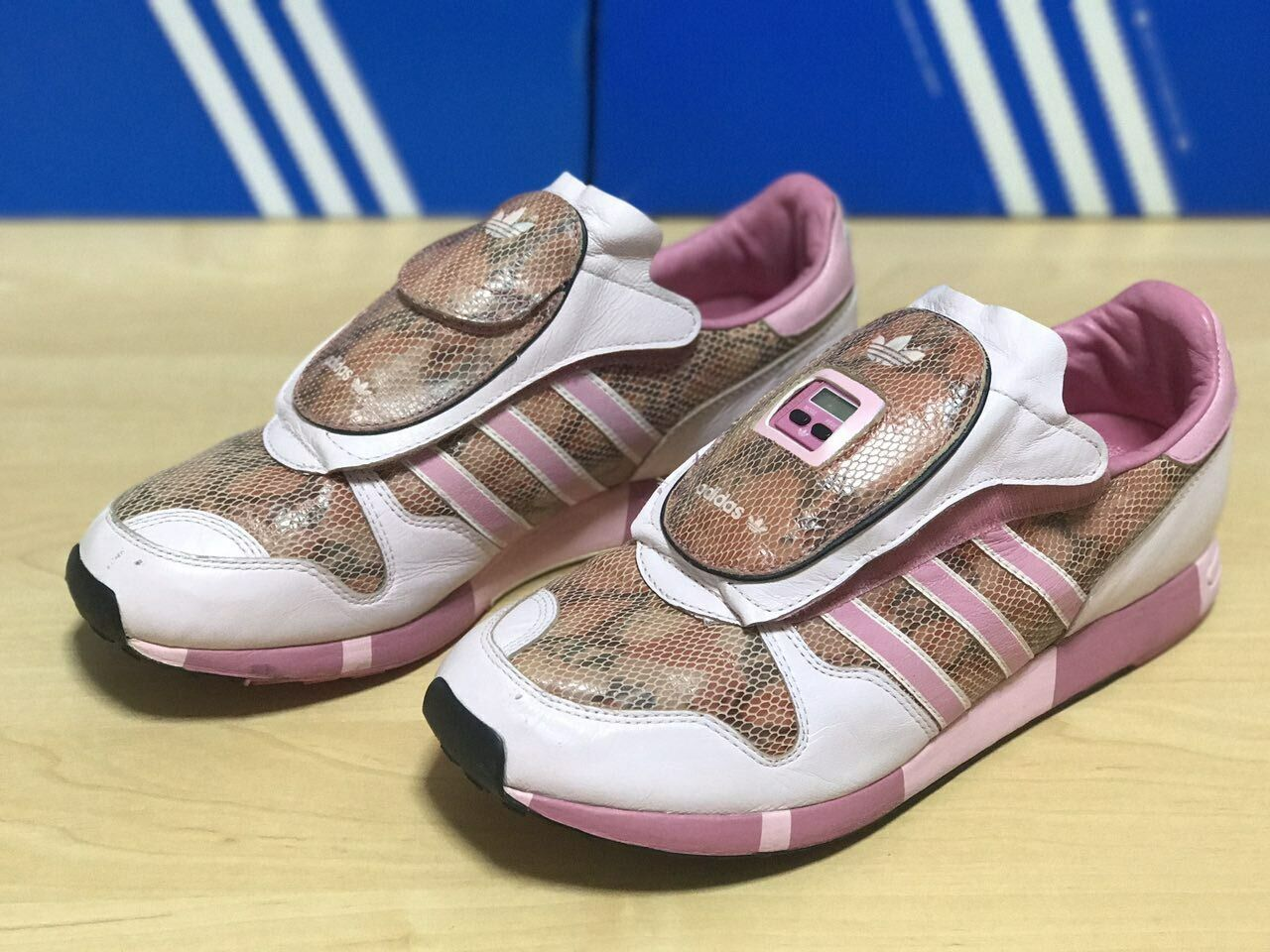 Snake Pink Micropacer Skin Adidas 9.5 US size f970ebcxh43422
