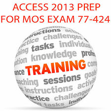 ACCESS 2013 for MOS Certification Exam 77-424 - Video Training Tutorial DVD