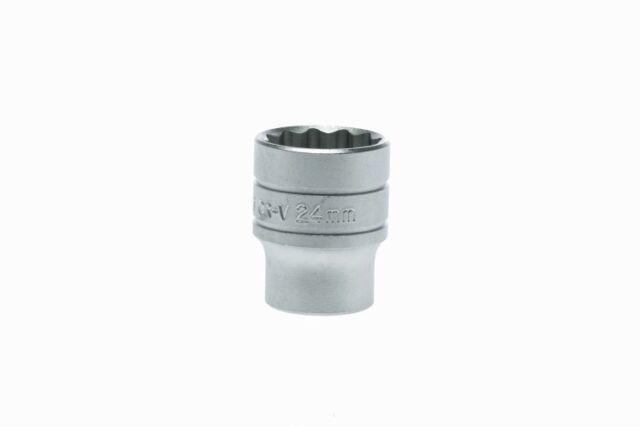 Teng Tools M120524-C 1.3cm Drive - Standard 12pt Metriche 24mm Socket