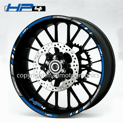 BMW HP4 s1000RR motorcycle quality wheel decals stickers rim stripes Laminated