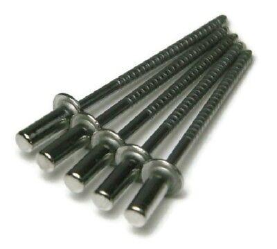 "QTY 100 White POP Rivets ALL Steel 4-2 1//8/"" x 1//8/"" Grip Range Zinc Plated 42"