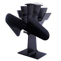 Ecofan Original Model 800 Heat Powered Wood Stove Fan, Black