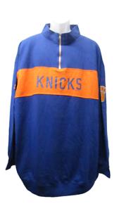 New York Knicks Mens Sizes 3XL-4XL Blue/Orange Light Weight Pullover Sweatshirt