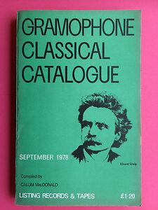 GRAMOPHONE-CLASSICAL-RECORD-CATALOGUE-September-1978-Vinyl-amp-Tape-Guide-Book