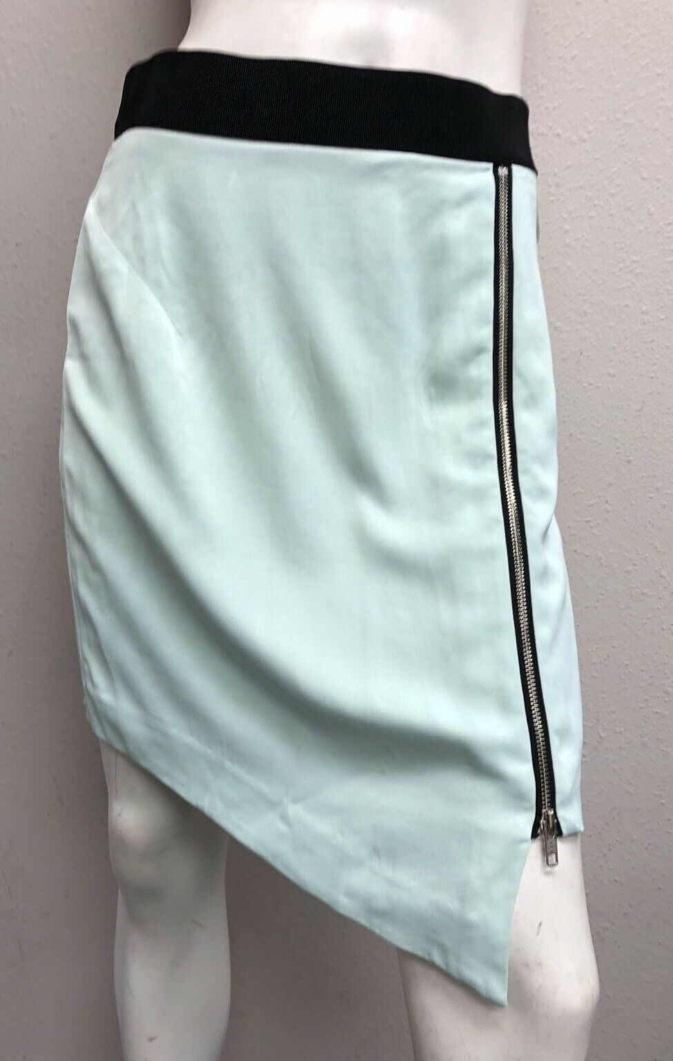 Milly Original New York Zipskirt Seagull Seagl Teal Aqua bluee size 6
