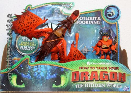 Dragons 3 secrète monde Morvik /& hakenzahn Hookfang 20103710 Nouveau//Neuf dans sa boîte