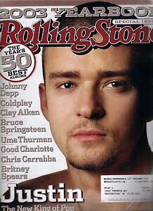 Rolling Stone Magazine 938 Justin Timberlake Cover